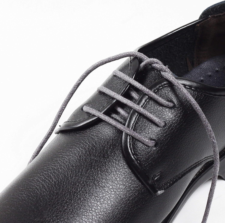 Shoemate Mens Boots Waxed Flat Shoelaces
