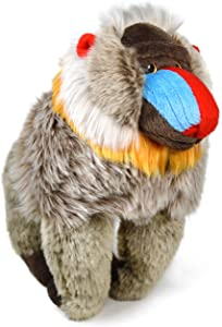 Mambo The Mandrill - 10.5 Inch Stuffed Animal Plush Baboon - by Tiger Tale Toys