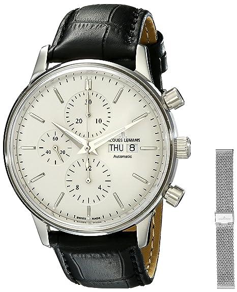 bambino vendita calda a buon mercato seleziona per il più recente Jacques Lemans Orologio Cronografo Automatico Uomo con ...