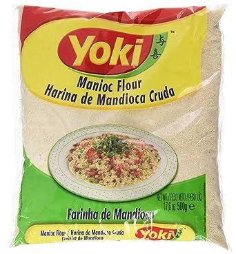 Yoki Harina de Mandioca Cruda - 8 Paquetes de 510 gr - Total: 4080 gr