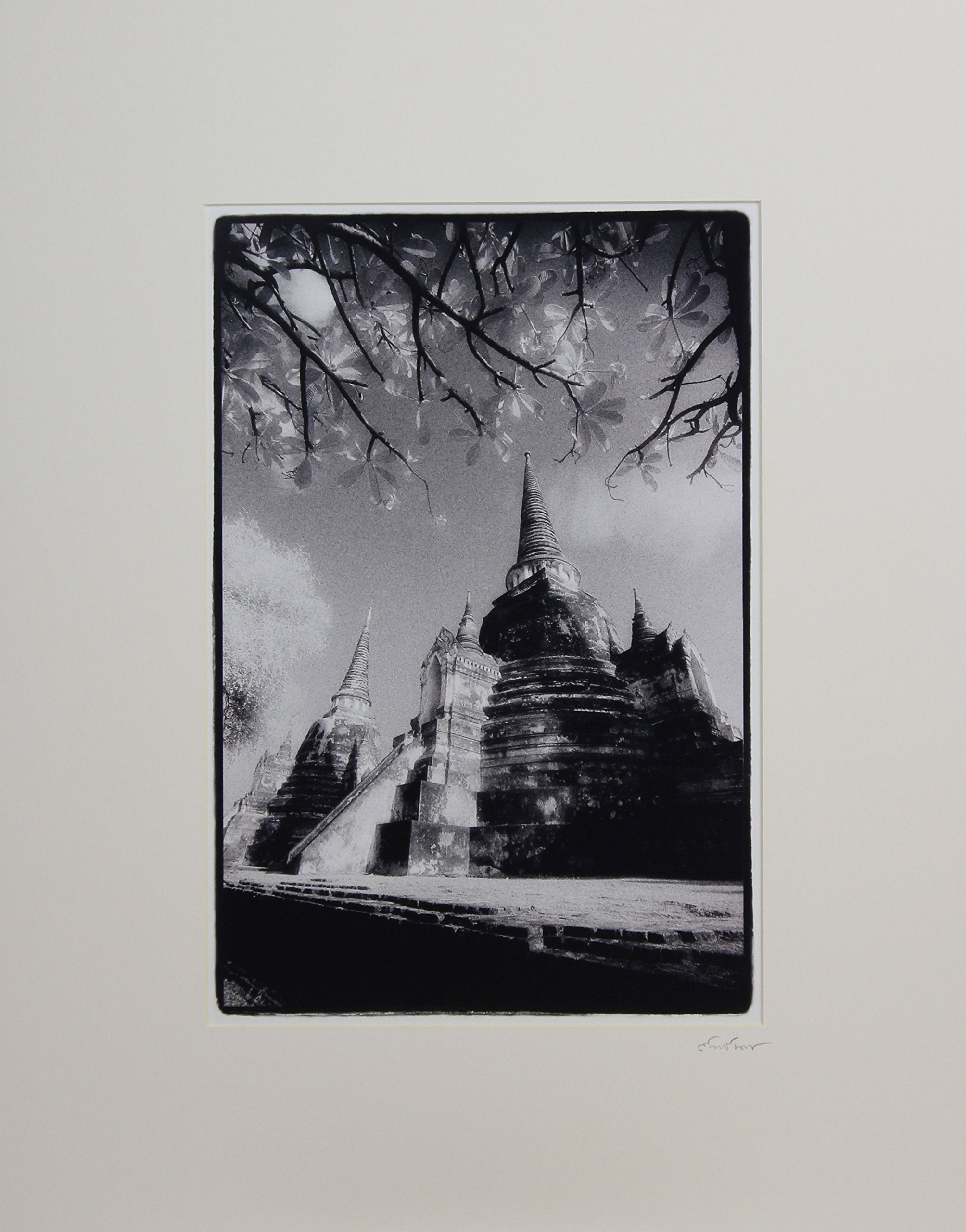 NOVICA ''Graceful Wat Phra Sri Sanphet'' Photograph by NOVICA