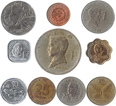 10 Monedas Antiguas DE Filipinas. Monedas COLECCIONABLES DE Asia ...