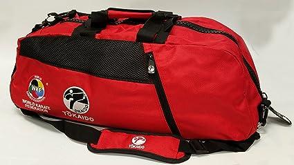 Amazon com : Tokaido Karate WKF Red Duffel Bag : Sports