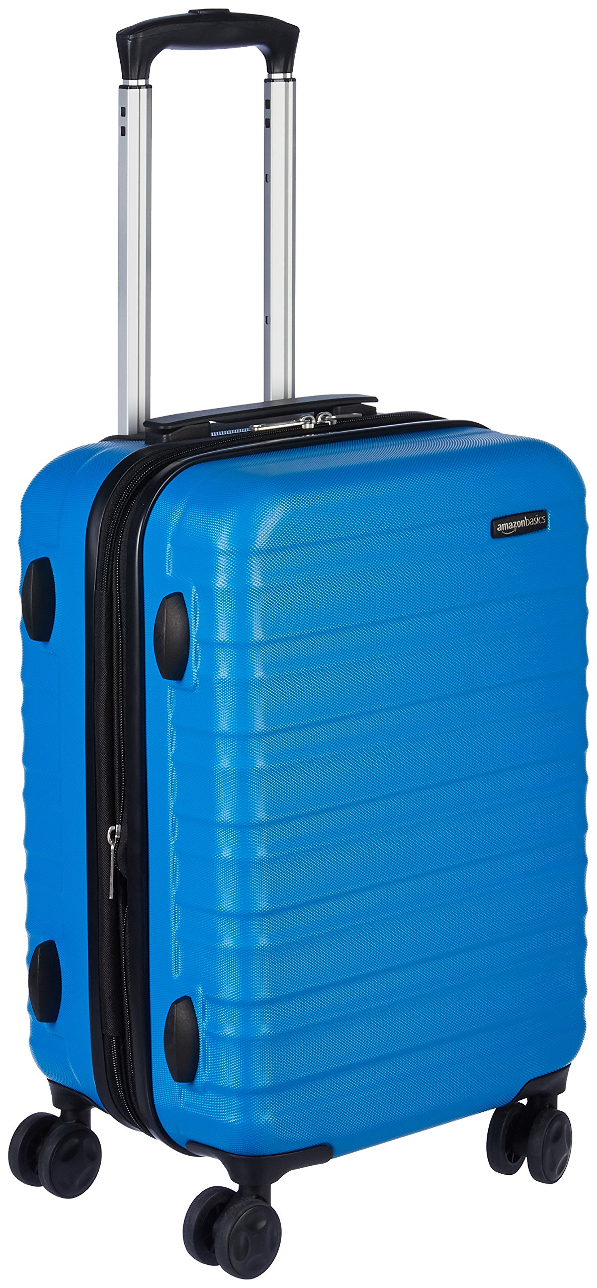 AmazonBasics Hardside Spinner Luggage, 20-inch Carry-on/Cabin Size, Light Blue product image