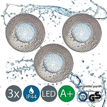 LED Einbaustrahler Badezimmer geeignet 3er Set inkl. 3 x 3W ...