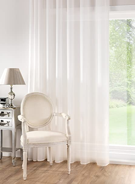 50 m French Cotton Muslin Voile Fabric Curtain Cream