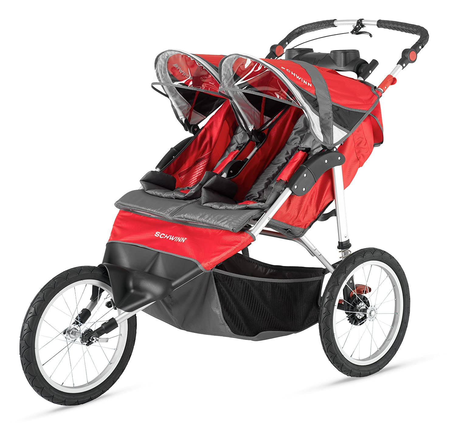 Amazon.com: Schwinn Arrow Double Stroller, Red/Black: Sports ...