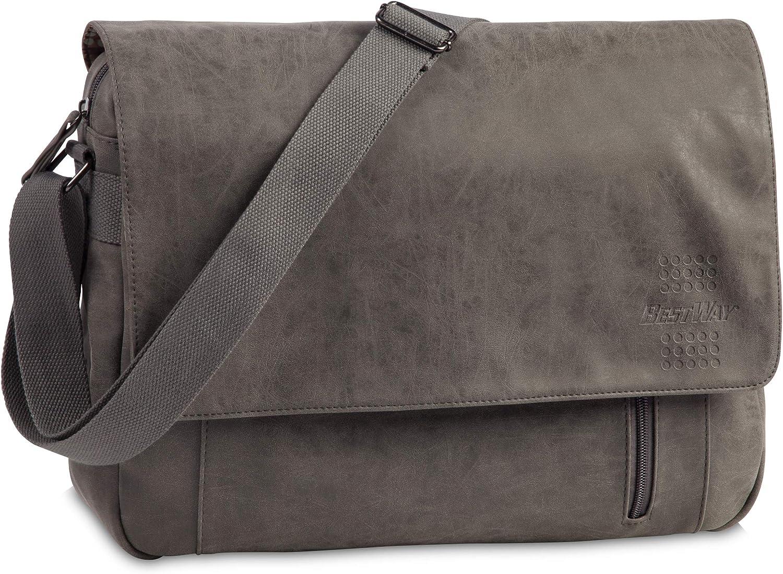 dunkelbraun 39 cm Brown Bestway Bestway Freizeittasche Messenger Bag