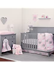 NoJo Dreamer Elephant 8 Piece Comforter Set, Pink/Grey
