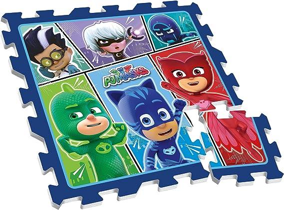 Stamp - Alfombra de Suelo de Espuma PJ Masks-Pijamasco, TP280001, Azul