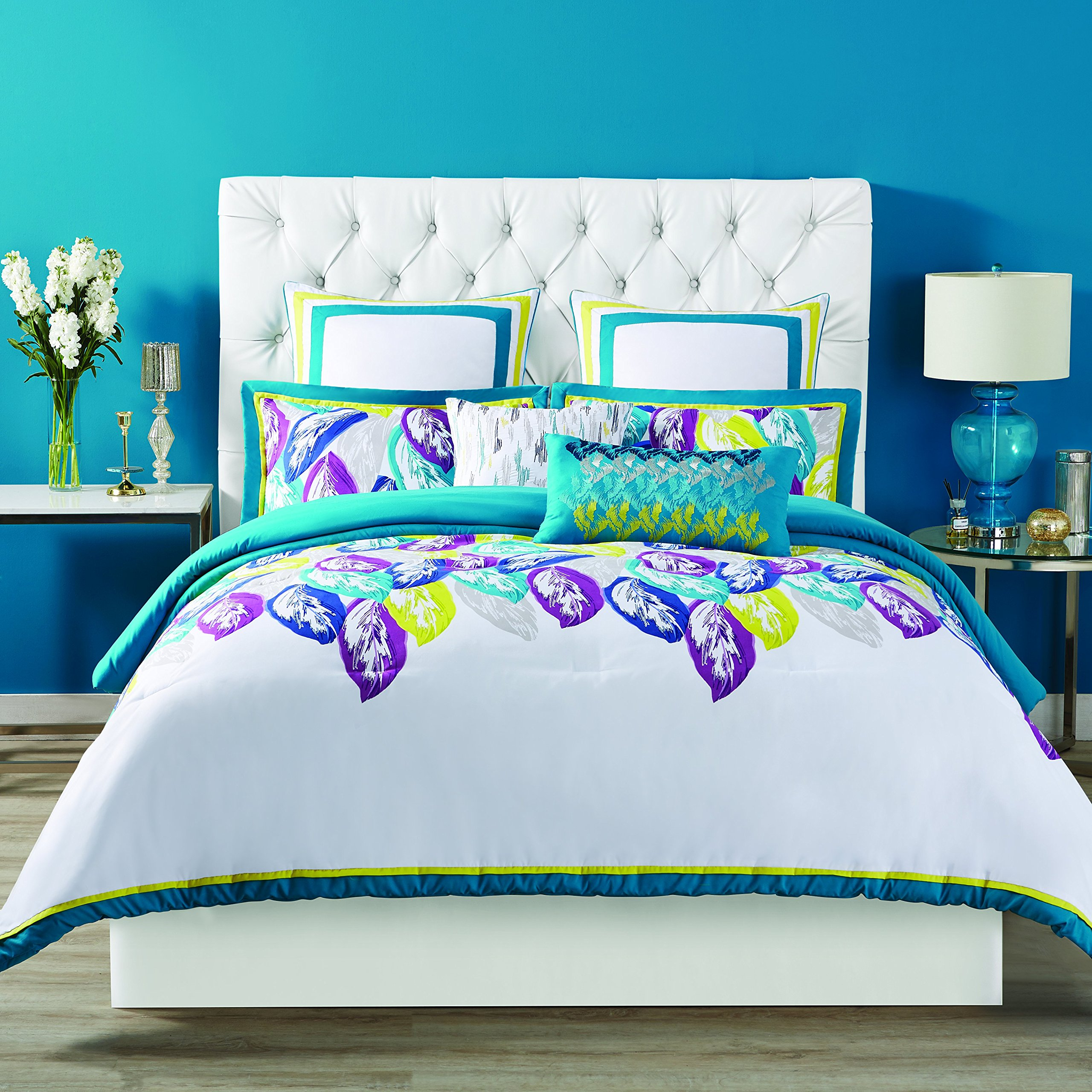 Christian Siriano Comforter Set, Full/Queen, Plume