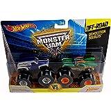 Hot Wheels Monster Jam off-rad demolición Doubles Grave Digger la Leyenda vs dragón de Hot Wheels