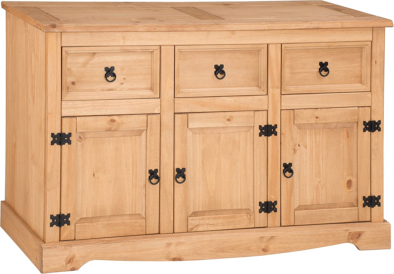 Mercers Furniture Trade Corona 3 Door 3 Drawer Large Sideboard Light Fiesta Wax Amazon Co Uk Kitchen Home