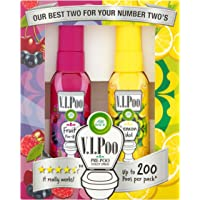 Air Wick VIPoo Pre Poo Spray, Twin Pack, Lemon and Fruity, 2x 55ml