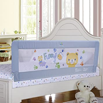 Amazoncom Gray Color Baby Bed Rail Extra Long Bed Guard Safety