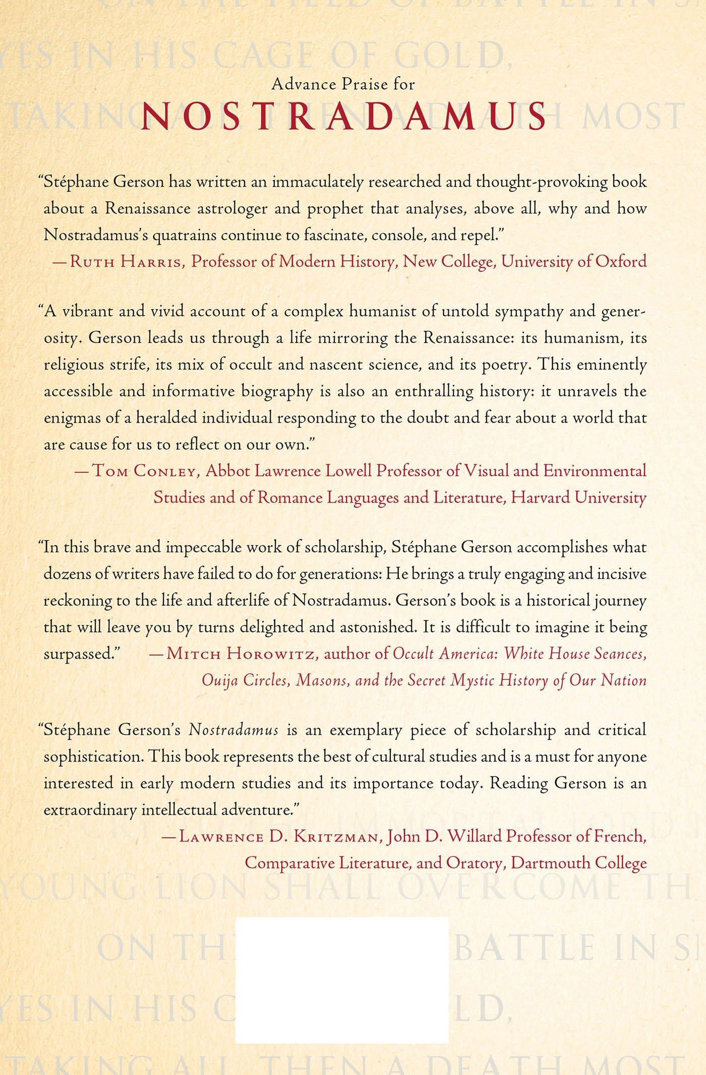 Amazon com: Nostradamus: How an Obscure Renaissance