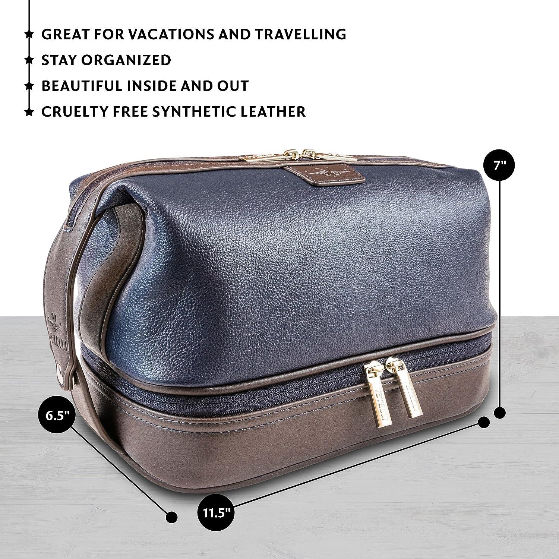 Get 5  info for 99a91 4da14 Vetelli Leo Leather Toilet Wash Bag for Men -  Handmade Toiletry Bag ... d13828afda