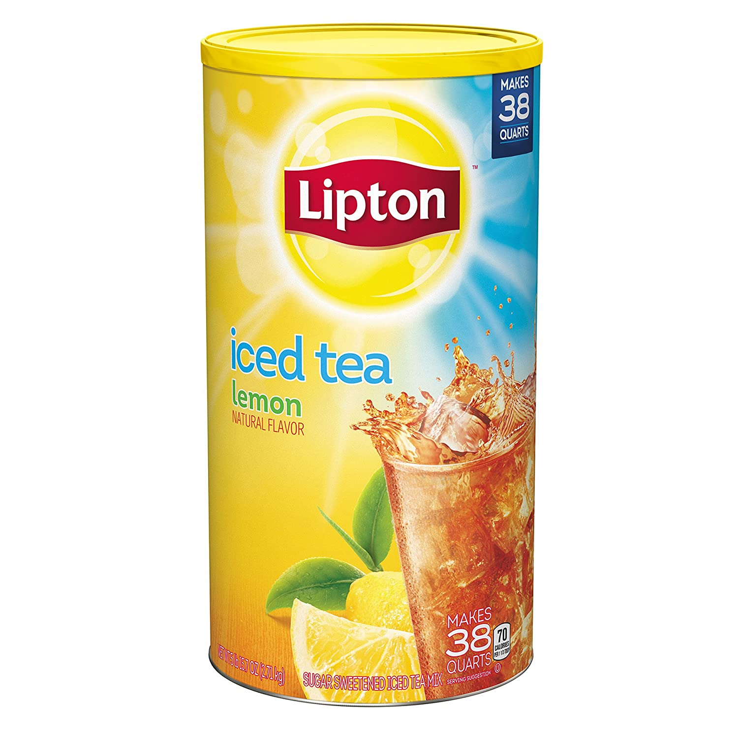 amazon com lipton iced tea mix lemon 38 qt bottled iced tea