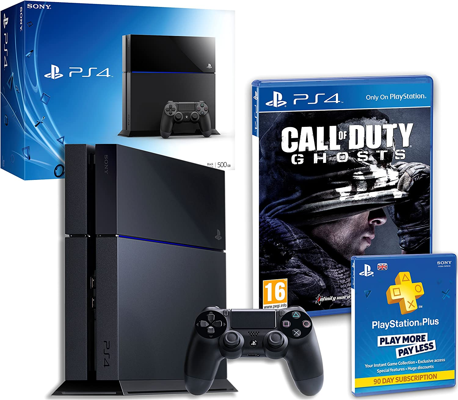Sony Playstation 4 With Call Of Duty Ghosts & Ps+ 90 Days ...