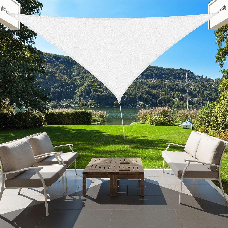 Protezione Anti Raggi UV Sol Royal Tenda a Vela Impermeabile Triangolare 360x360x360 cm SolVision PS9 Bianco
