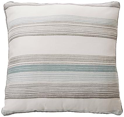 Fusion Rydell - cojín con relleno de plumas, con rayas verticales, algodón, verde azulado, 43x43 cm Filled Cushion