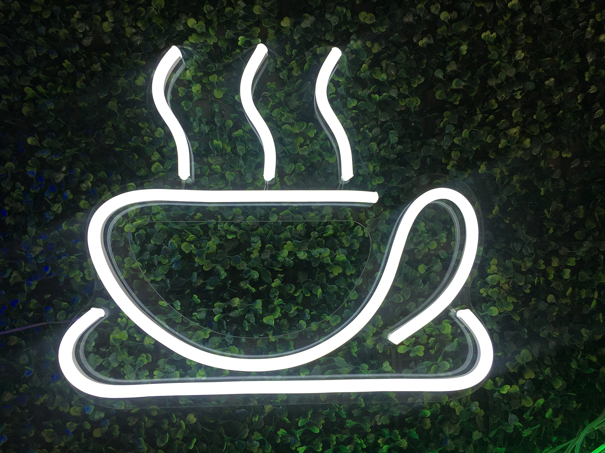 Coffee Cup Signboard Shop Neon Light Sign Cafe Neon Light Sign Display Coffee Cup Logo Neon Sign Club Garrag Dealers Windows Garage Wall Sign 10\'\' 8.6\'\'