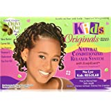 Africa's Best Kids Organics No-Lye Organic Conditioning Relaxer System with Scalp Guard for Fine to Normal Hair, Kids Regular