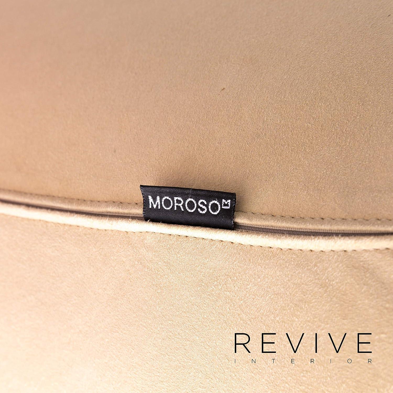 Moroso Fjord Designer Fabric Alcantara Armchair Beige Color ...