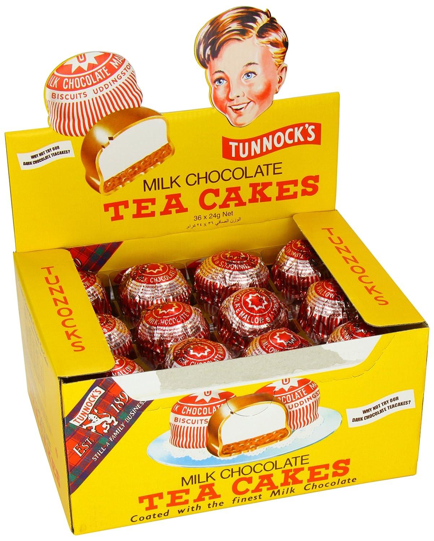 Amazon.com : Tunnock's Milk Chocolate Tea Cakes 36 x 24g : Grocery ...