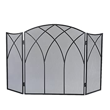 Amazoncom Pleasant Hearth Gothic Fireplace Screen Home Kitchen