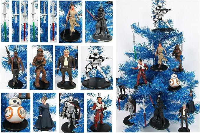Star Wars Rise of Skywalker Kylo Ren And Rey Christmas Ornament Set Ben Solo