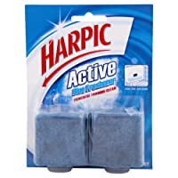 Harpic Active Blue Freshener Foaming Toilet Block Twin, 114g (Pack of 2)