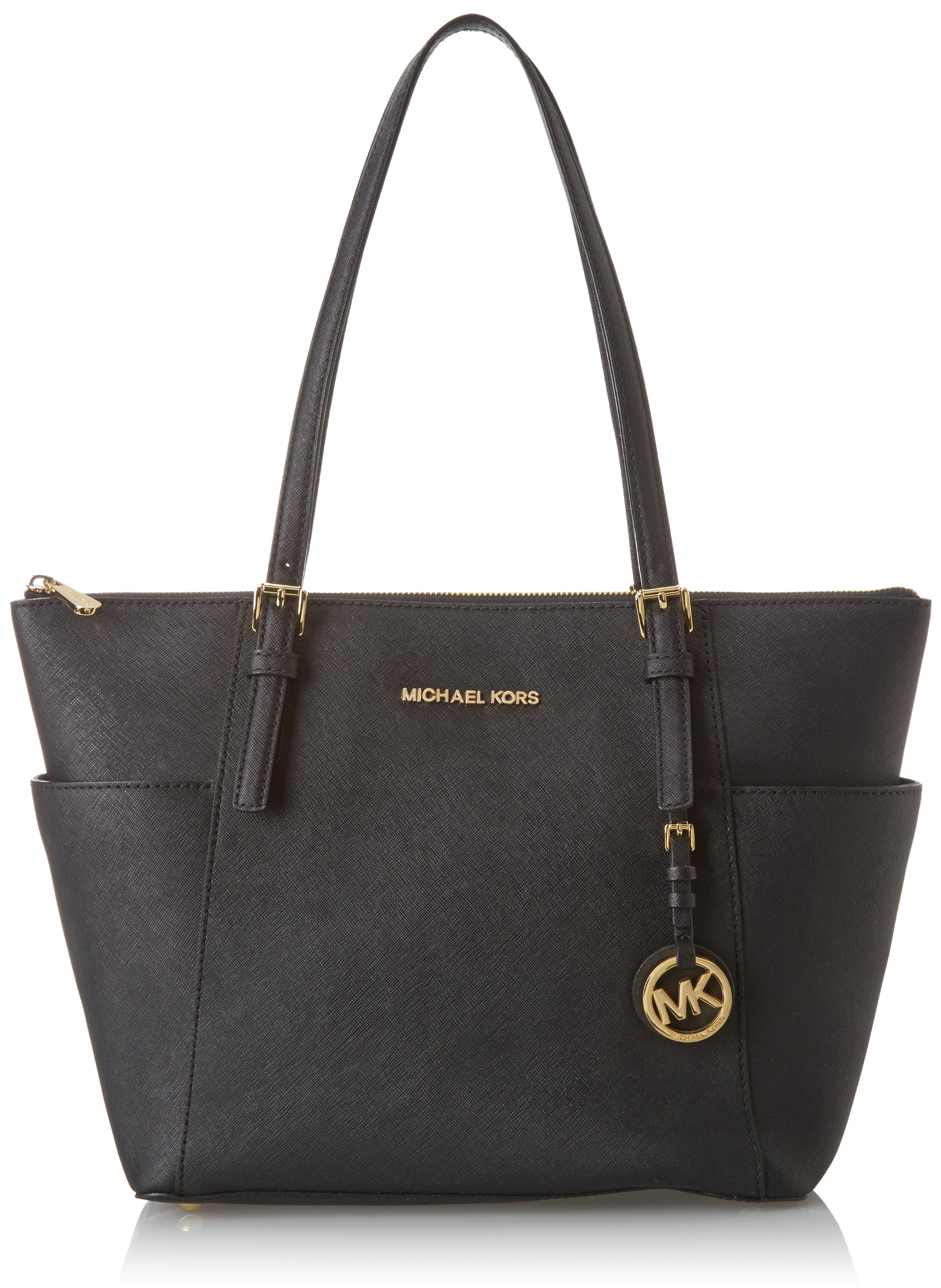 4cdd2421e8bb86 Michael Kors Womens Jet Set Item East West Top Zip Tote, Black (Black), One  Size: Amazon.co.uk: Shoes & Bags