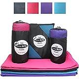 Little Big Towel - Serviette en Microfibre pour Voyage - Séchage Rapide - Camping Serviette / Serviette de Sport / Serviette de Bain / Serviette de Piscine - Gris, Bleu, Rose, Violet