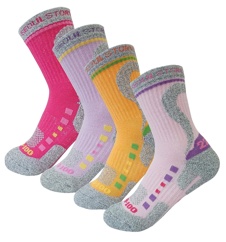 4Pack Women's ATB100Dry Cushion Performance/Hiking/Trail Micro Crew Socks