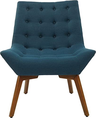 OSP Home Furnishings Shelly Tufted Accent Chair, Azure