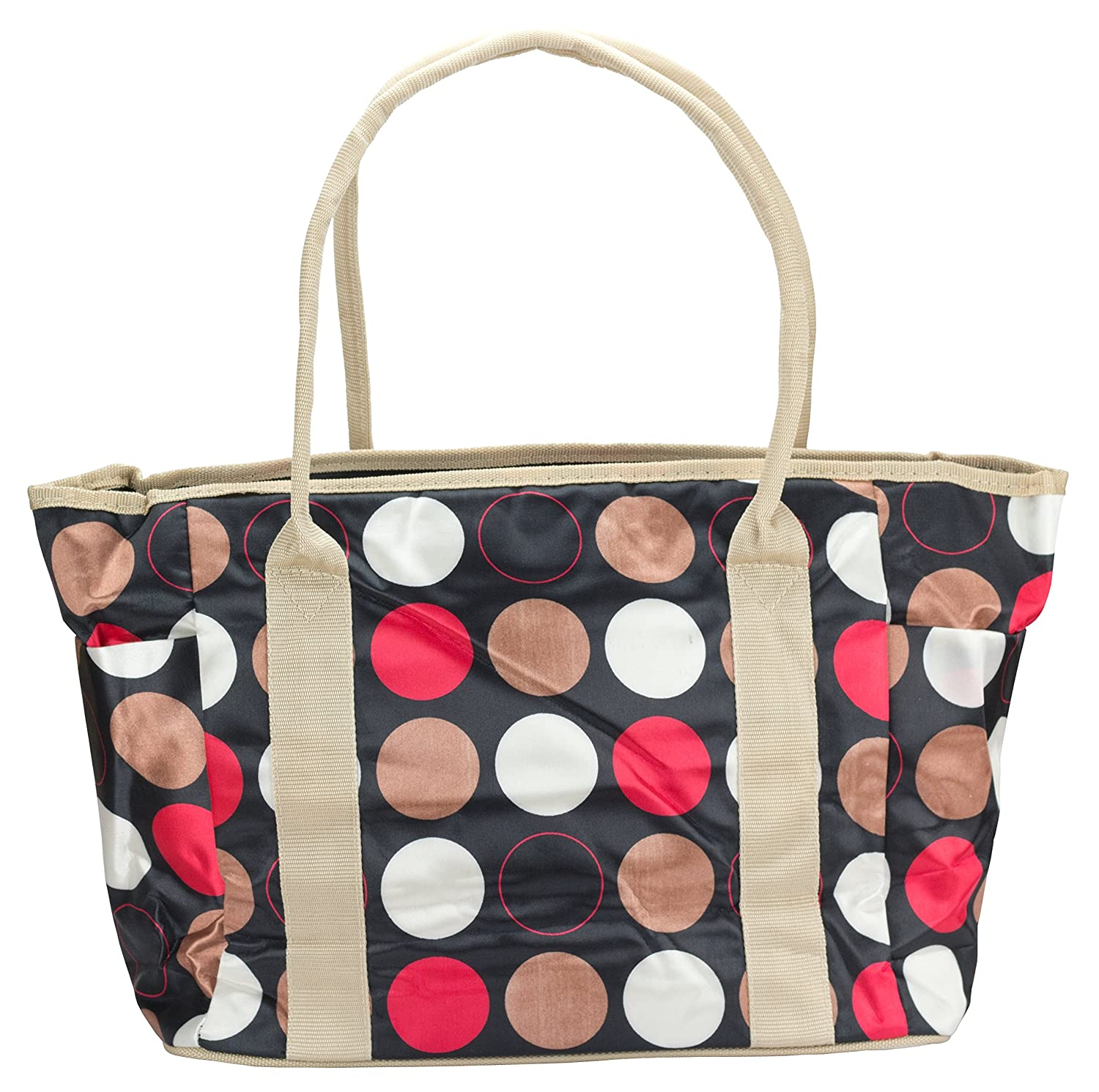 17ab582e6557 Amazon.com : JS Multi-Fashion/Multi-Function Mommy Tote Bag (Polka Dot on  Black) : Beauty