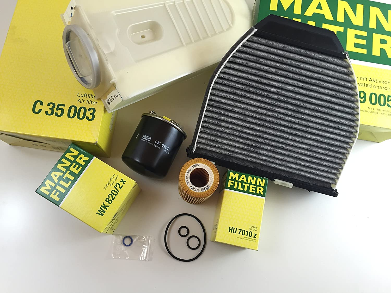 Mann Filter Oil Air Activated Carbon Set Fuel Wk 11030 W212 S212 W204 S203 Cdi Car Motorbike