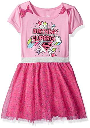 Amazon DC Comics Girls Little Supergirl Birthday Dress Clothing