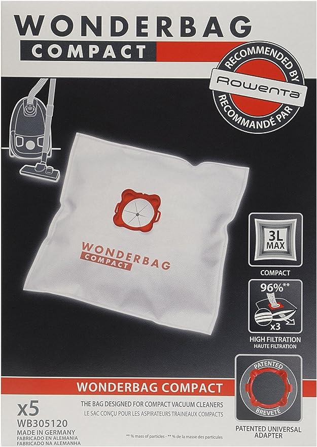 Rowenta Wonderbag Compact WB305120 - Pack de 5 bolsas para ...