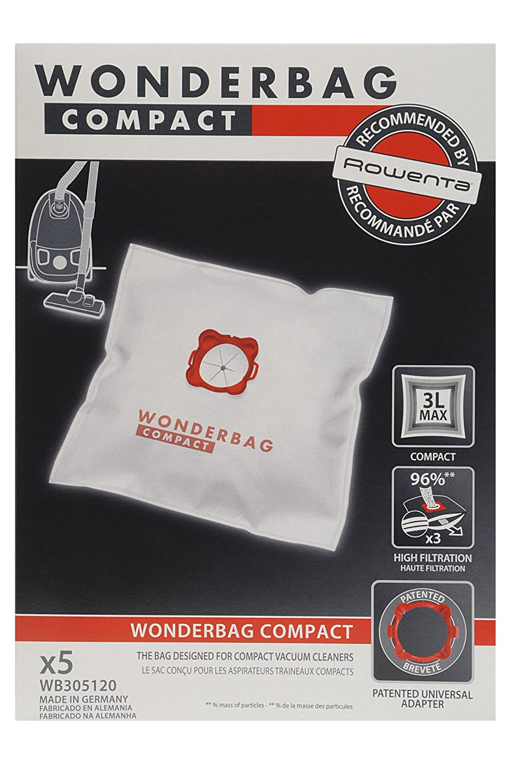 Amazon.com - Wonderbag - WB305120 - Vacuum Cleaner Bag - Wonderbag Compact x 5 -