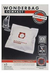Wonderbag - WB305120 - Vacuum Cleaner Bag - Wonderbag Compact x 5