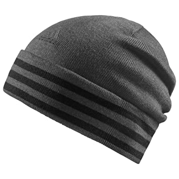 e9313f5e213 adidas Essentials 3 Stripe Beanie grey grey Size OSFW  Amazon.co.uk ...