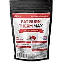 Fat Burn Therm Max | Weight Loss Diet Pills | 60 Capsules | One Month Supply | UK Manufacturer