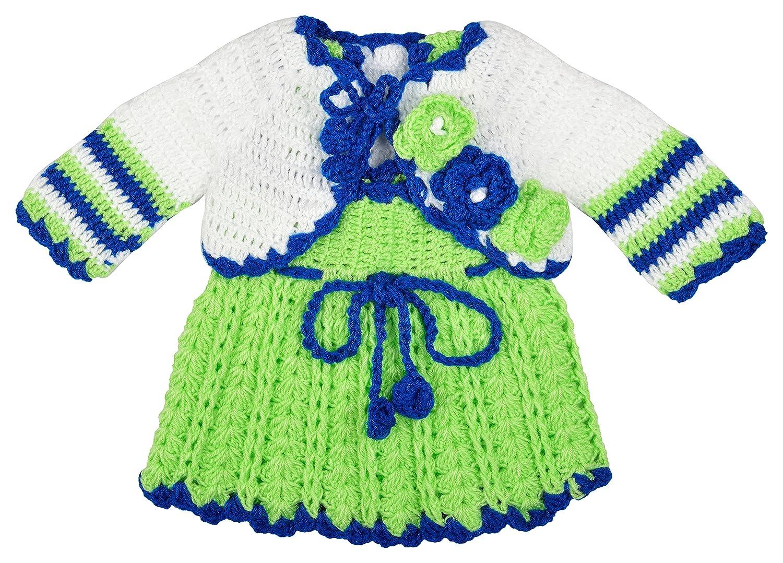 4a9034ef5 Kuchipoo Baby Girl Hand Knitted Woolen Frock (Green