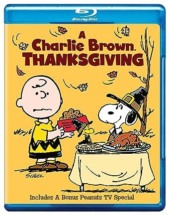 amazon com a charlie brown thanksgiving blu ray various movies tv