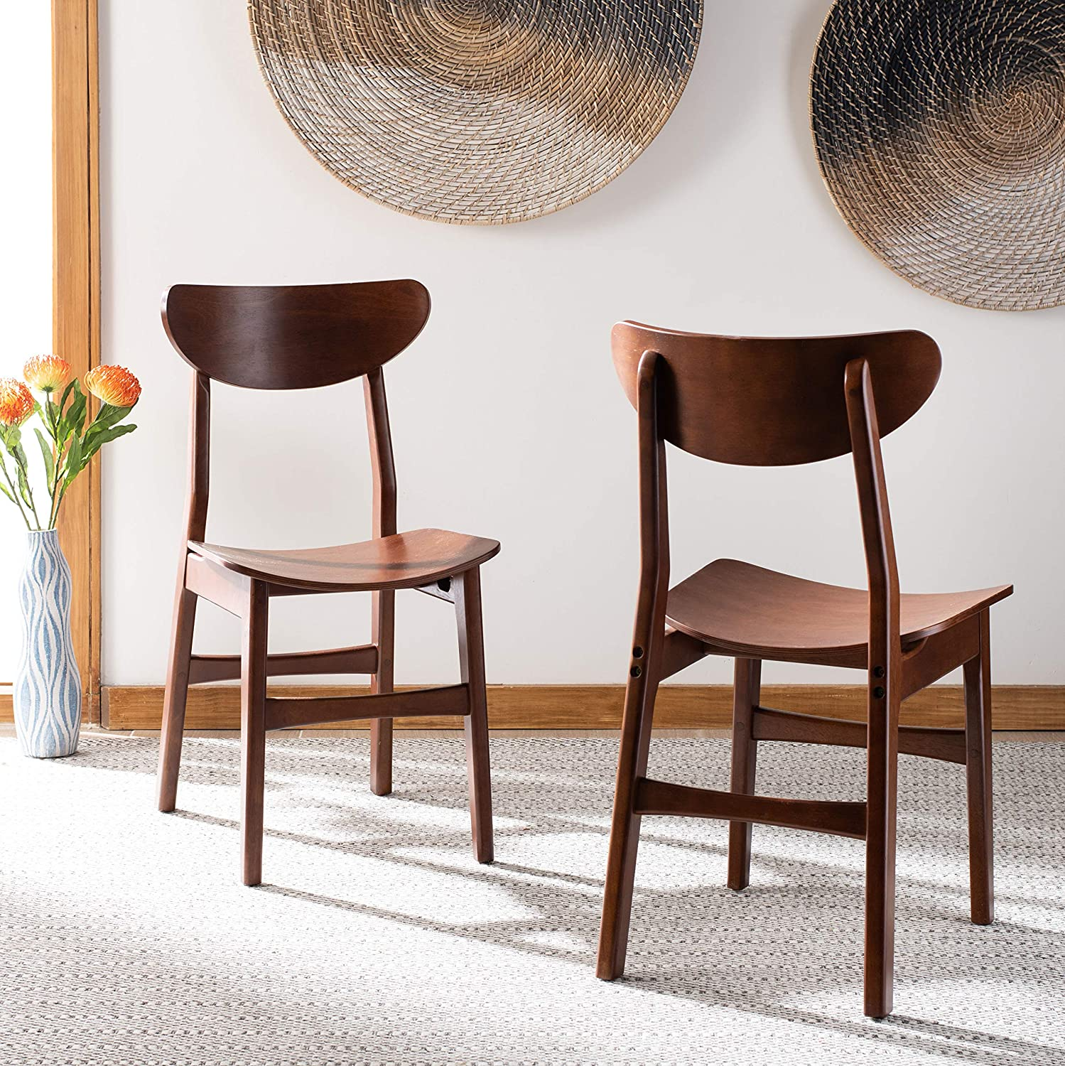 Safavieh Home Lucca Cherry Retro (Set of 2) Dining Chair,