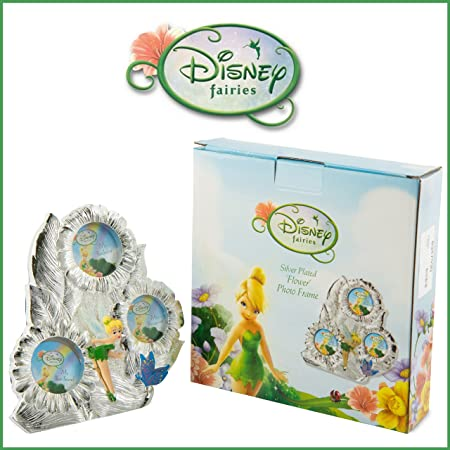 Disney Fairies Tinkerbell Silver Plated Flower Photo Picture Frame ...
