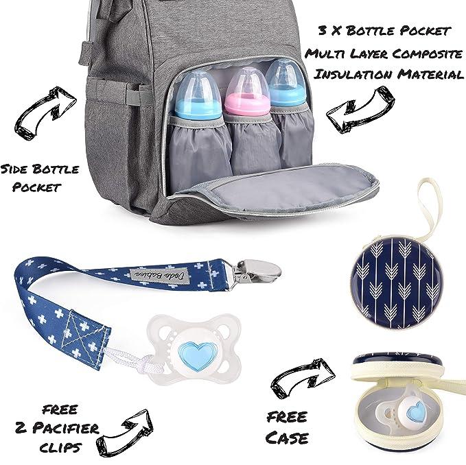 Amazon.com: Bolsa de pañales de Dodo Babies + 2 clips para ...