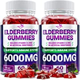 (2 - Pack) Sаmbuсus Elderberry Gummies for Adults Kids Toddlers with Vіtаmіn С & Zіnс - Herbal Supplement for Immune…